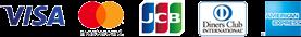 VISA mastercard JCB DinersClubcard American Express