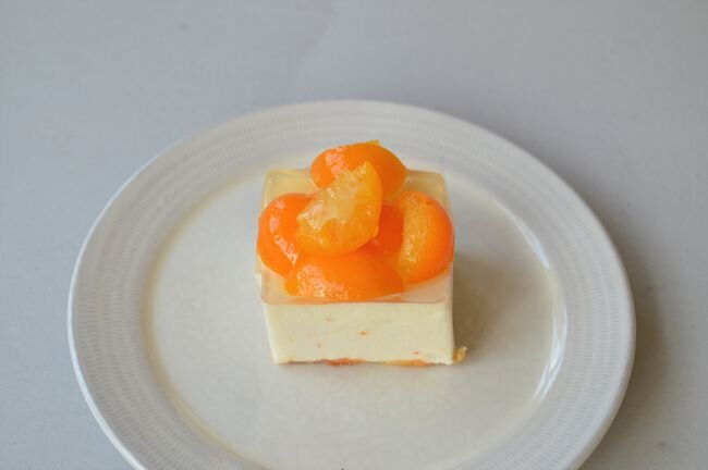 金柑と蜂蜜のレアチーズケーキ