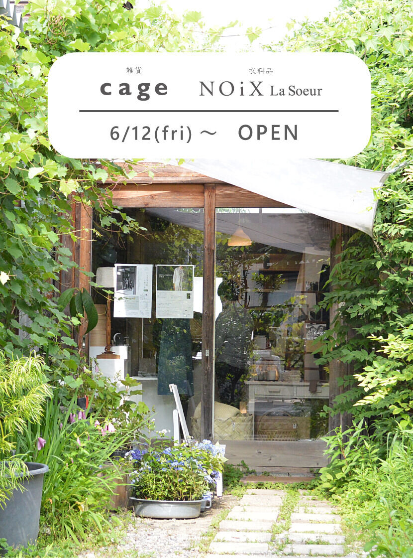 cage / NOiX La Soeur 営業のお知らせ