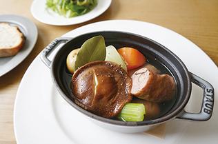 Soup of Shiitake Mushroom Sausage